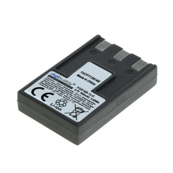 digibuddy Akku kompatibel zu Canon NB-1LH Li-Ion 3.7 Volt