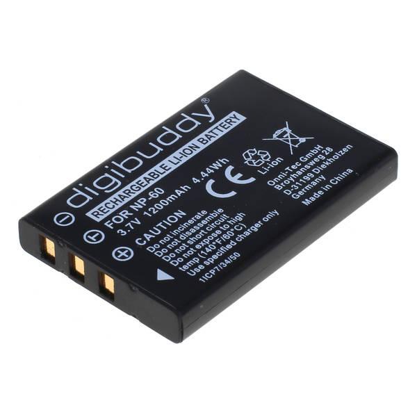 digibuddy Akku kompatibel zu Fuji NP-60 Li-Ion 3.7 Volt