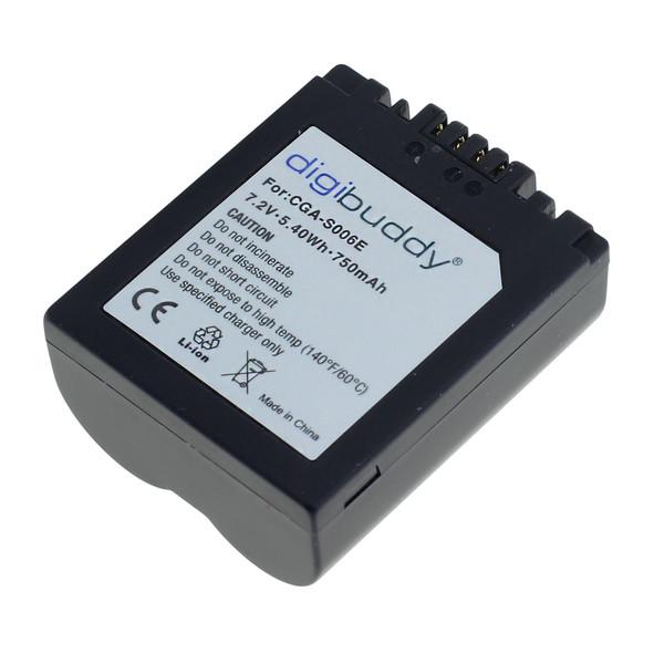 digibuddy Akku kompatibel zu Panasonic CGR-S006 Li-Ion 7.4 Volt