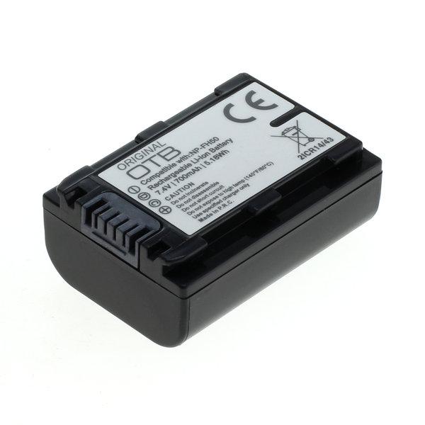 OTB Akku kompatibel zu Sony NP-FH50 / NP-FP50 Li-Ion 7.4 Volt