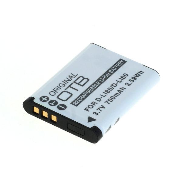 OTB Akku kompatibel zu Pentax D-Li88 / Sanyo DB-L80 Li-Ion 3.7 Volt