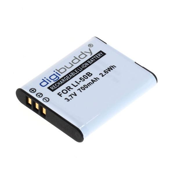 digibuddy Akku kompatibel zu Olympus LI-50B / Pentax D-Li92 / Ricoh DB 3.7 Volt