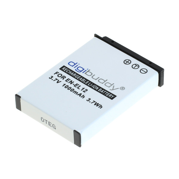 digibuddy Akku kompatibel zu Nikon EN-EL12 Li-Ion 3.7 Volt