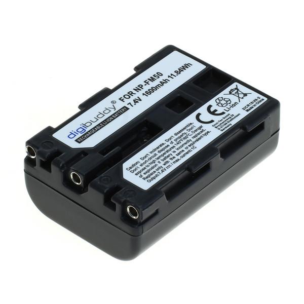 digibuddy Akku kompatibel zu Sony NP-FM55H / NP-QM51 Li-Ion 7.4 Volt