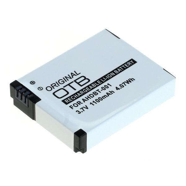 OTB Akku kompatibel zu GoPro HD Hero Li-Ion 3.7 Volt