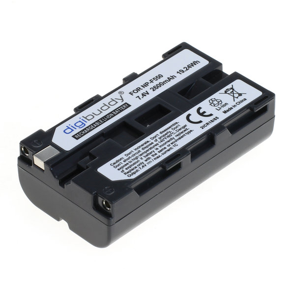 digibuddy Akku kompatibel zu Sony NP-F550 Li-Ion 7.4 Volt