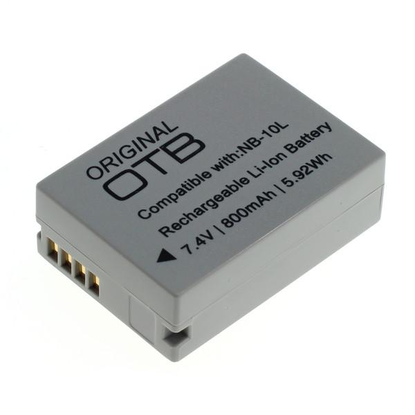 OTB Akku kompatibel zu Canon NB-10L Li-Ion 7.4 Volt