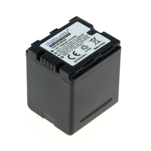 digibuddy Akku kompatibel zu Panasonic VW-VBN260 Li-Ion 2100mAh 7.4 Volt