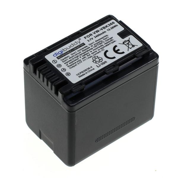 digibuddy Akku kompatibel zu Panasonic VW-VBK360 Li-Ion 3.7 Volt