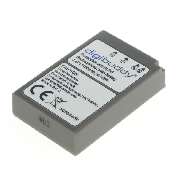 digibuddy Akku kompatibel zu Olympus BLS-5 / BLS-50 Li-Ion 7.4 Volt