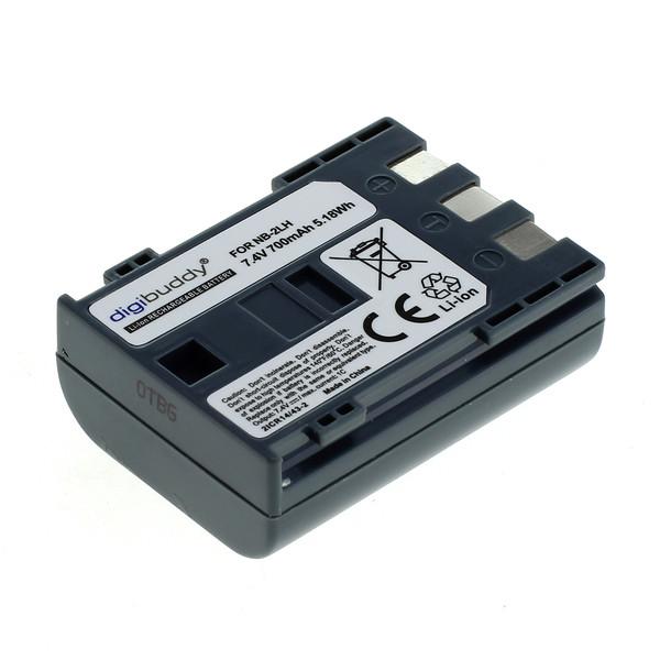 digibuddy Akku kompatibel zu Canon NB-2LH Li-Ion 7.4 Volt