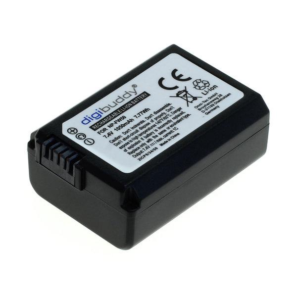 digibuddy Akku kompatibel zu Sony NP-FW50 Li-Ion 7.4 Volt