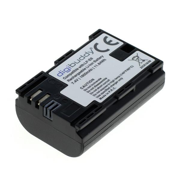 digibuddy Akku kompatibel zu Canon LP-E6 / LP-E6N Li-Ion 7.4 Volt