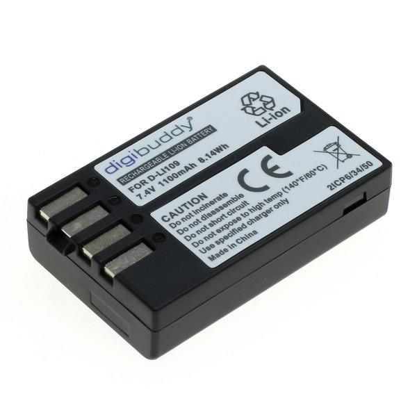 digibuddy Akku kompatibel zu Pentax D-Li109 Li-Ion 7.4 Volt