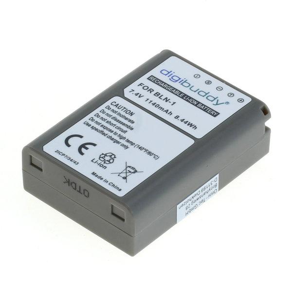 digibuddy Akku kompatibel zu Olympus BLN-1 Li-Ion 7.4 Volt