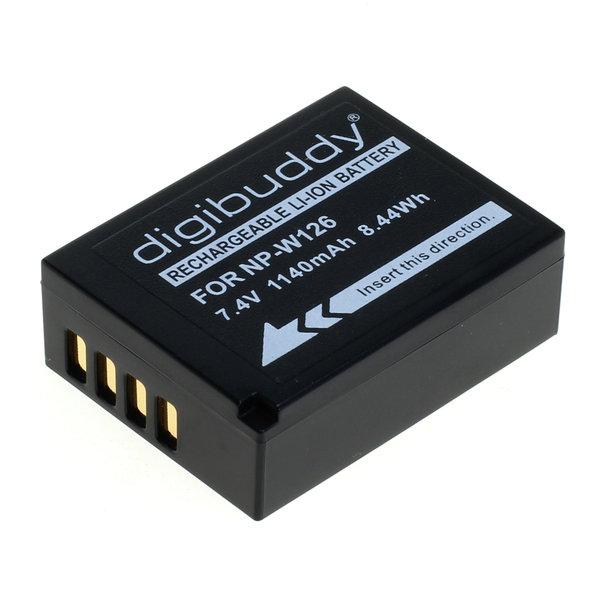 digibuddy Akku kompatibel zu Fuji NP-W126 / NP-W126S Li-Ion 7.4 Volt