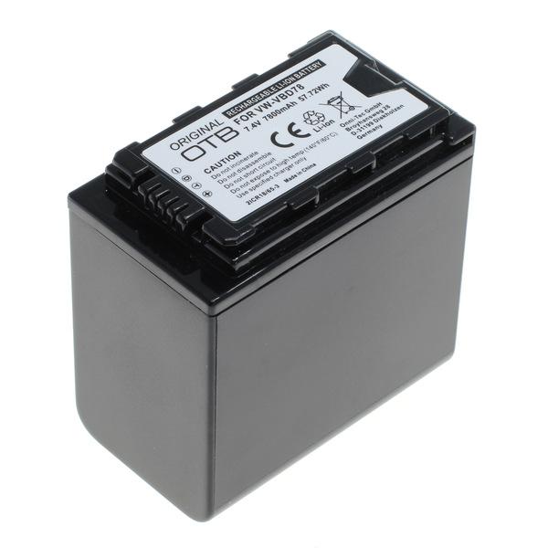 OTB Akku kompatibel zu Panasonic VW-VBD78 Li-Ion mit Akkustand-Anzeige 7.4 Volt