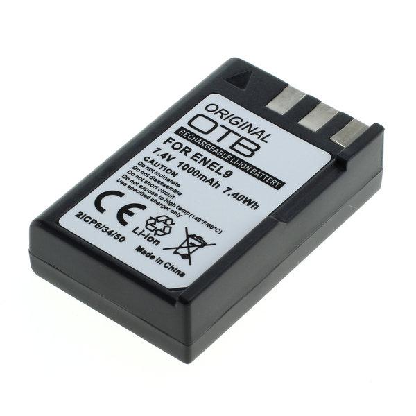 OTB Akku kompatibel zu Nikon EN-EL9 / EN-EL9a Li-Ion 7.4 Volt