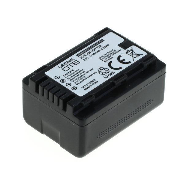 OTB Akku kompatibel zu Panasonic VW-VBT190 Li-Ion 3.7 Volt