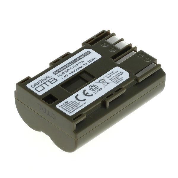 OTB Akku kompatibel zu Canon BP-511 Li-Ion - 1400mAh 7.4 Volt