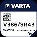Varta 386 (V386) Uhrenbatterie 1.55 Volt